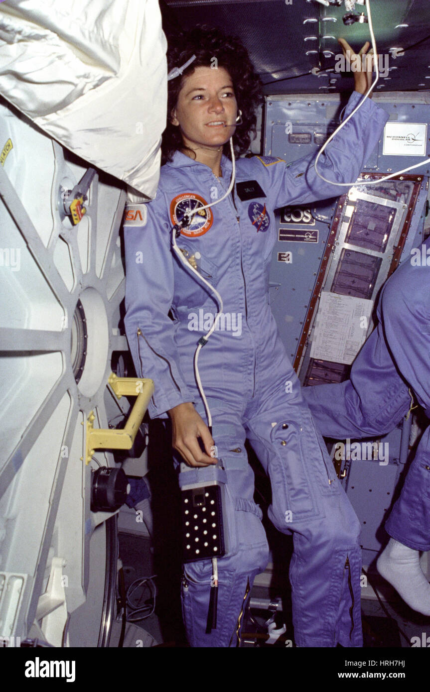 Astronaut Sally Ride, American Physicist - Stock Image