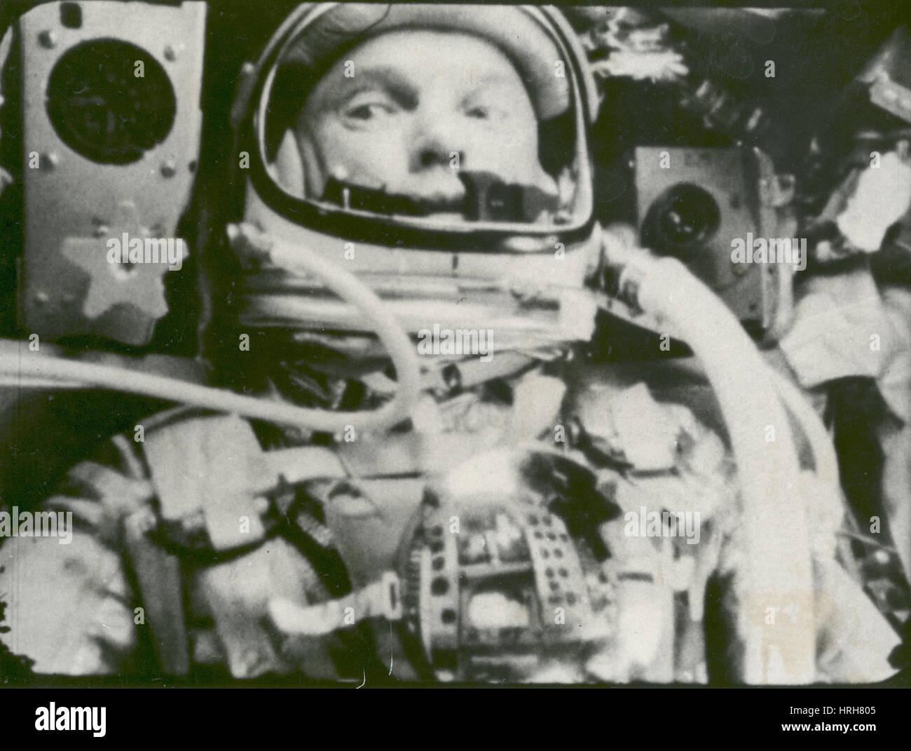 John Glenn on Friendship 7 - Stock Image
