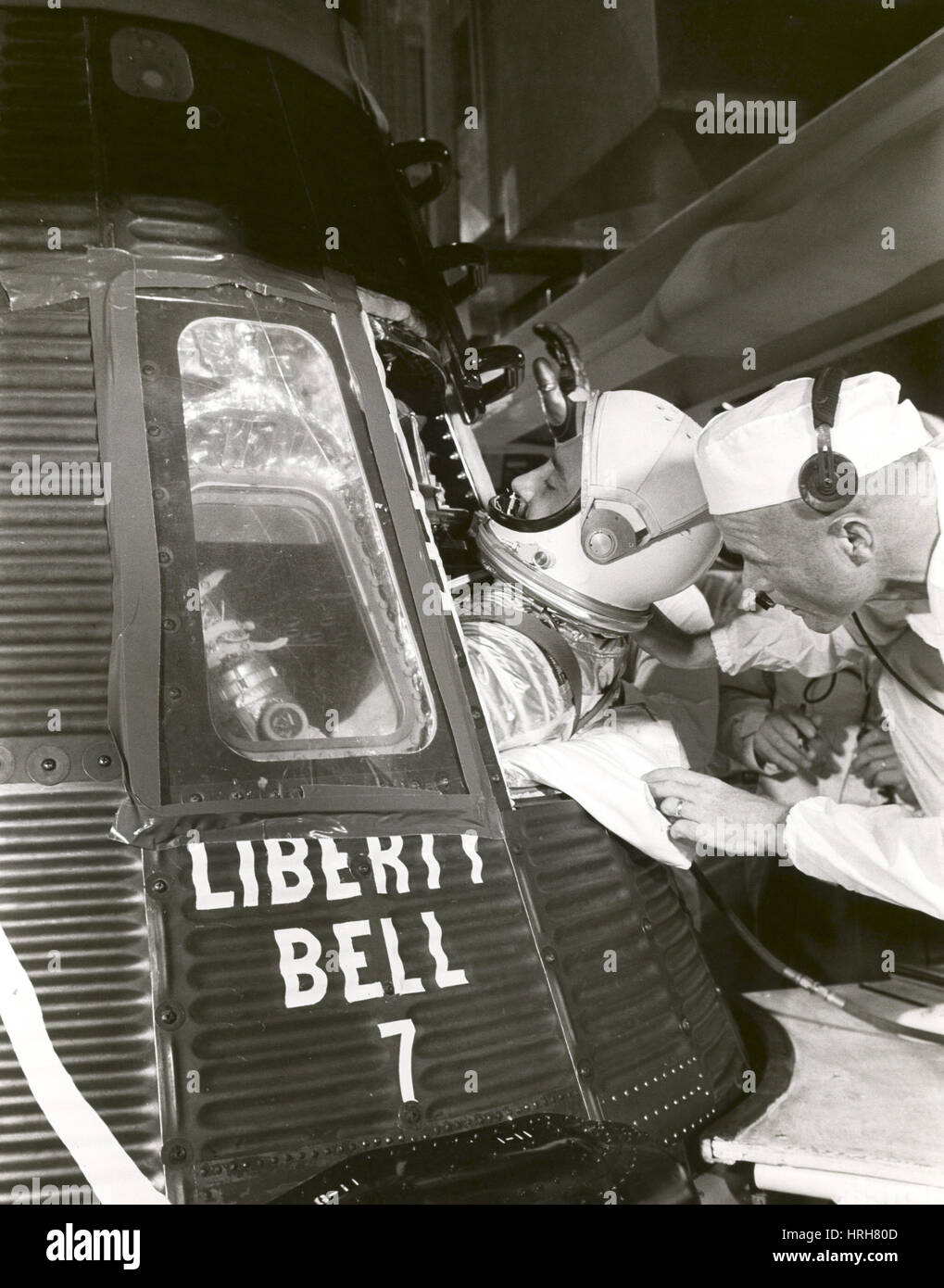 Astronaut Gus Grissom, Liberty Bell 7, 1961 Stock Photo