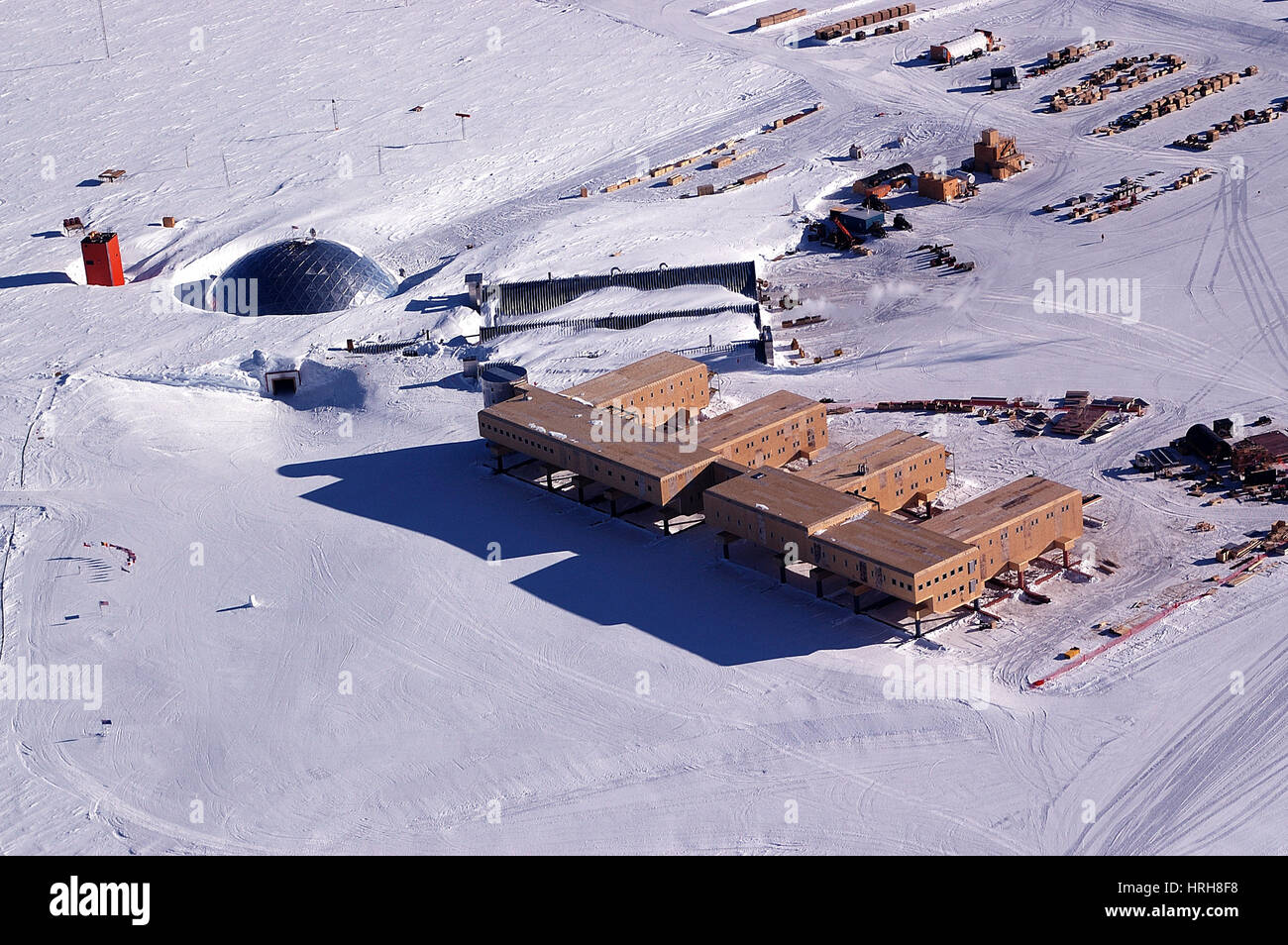 Amundsen-Scott South Pole Station - Stock Image