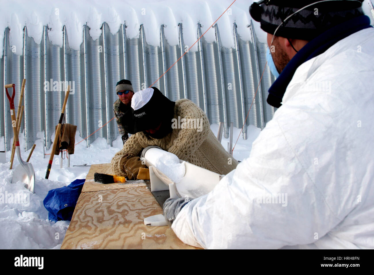 Ice sheet drilling - Stock Image