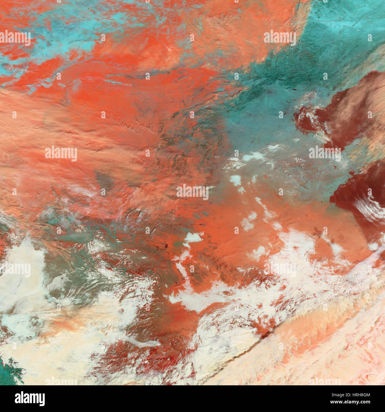 Southern China Snowfall, MODIS Image, 2008 - Stock Image