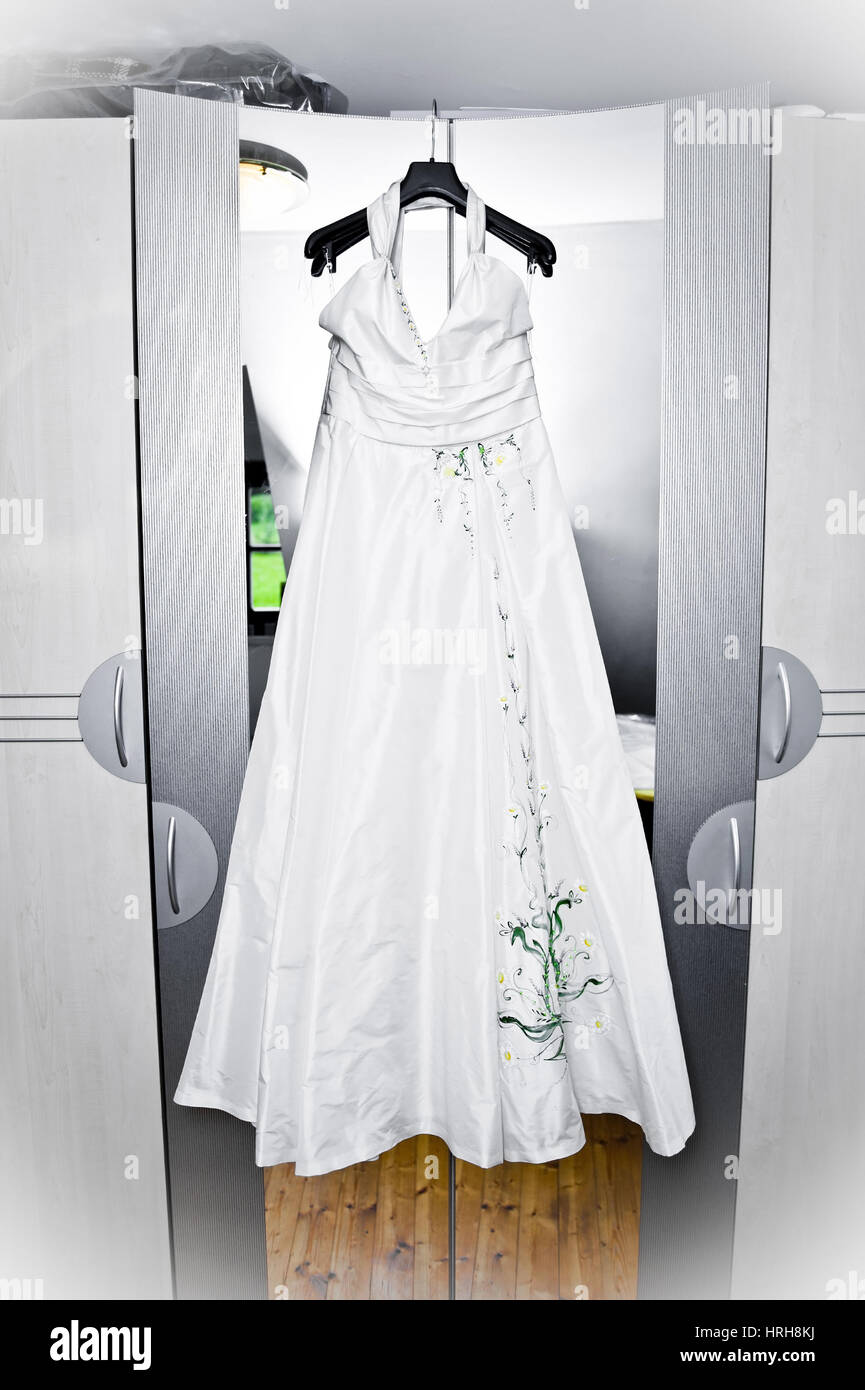 Brautkeid - bridal dress - Stock Image