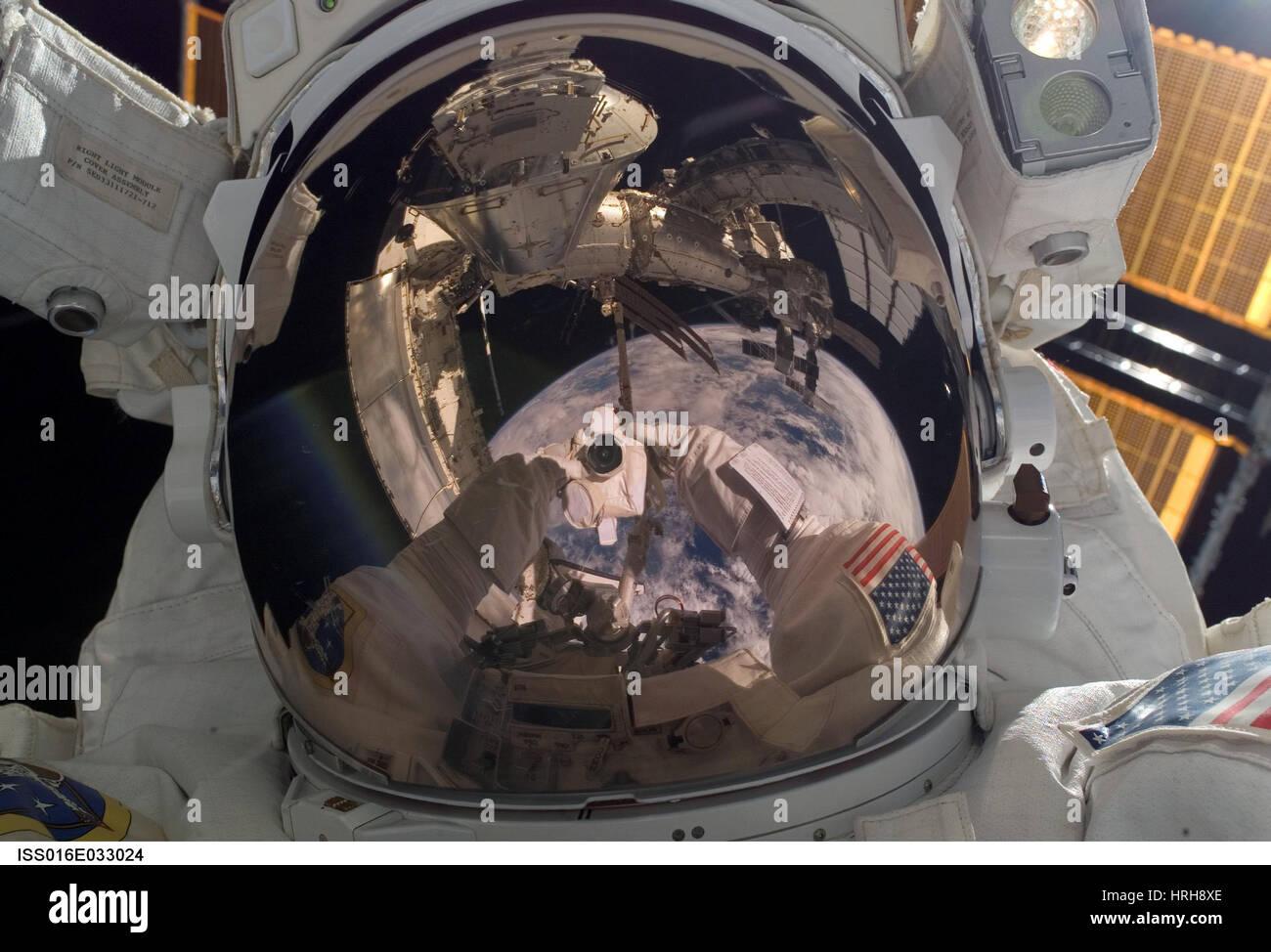 Self-portrait of astronaut Robert Behnken - Stock Image