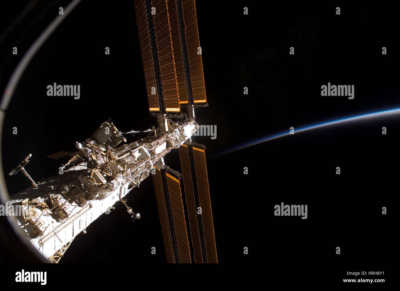 STS-122, International Space Station, 2008 - Stock Image