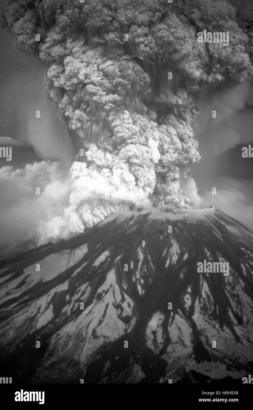 Mount St. Helens eruption - Stock Image