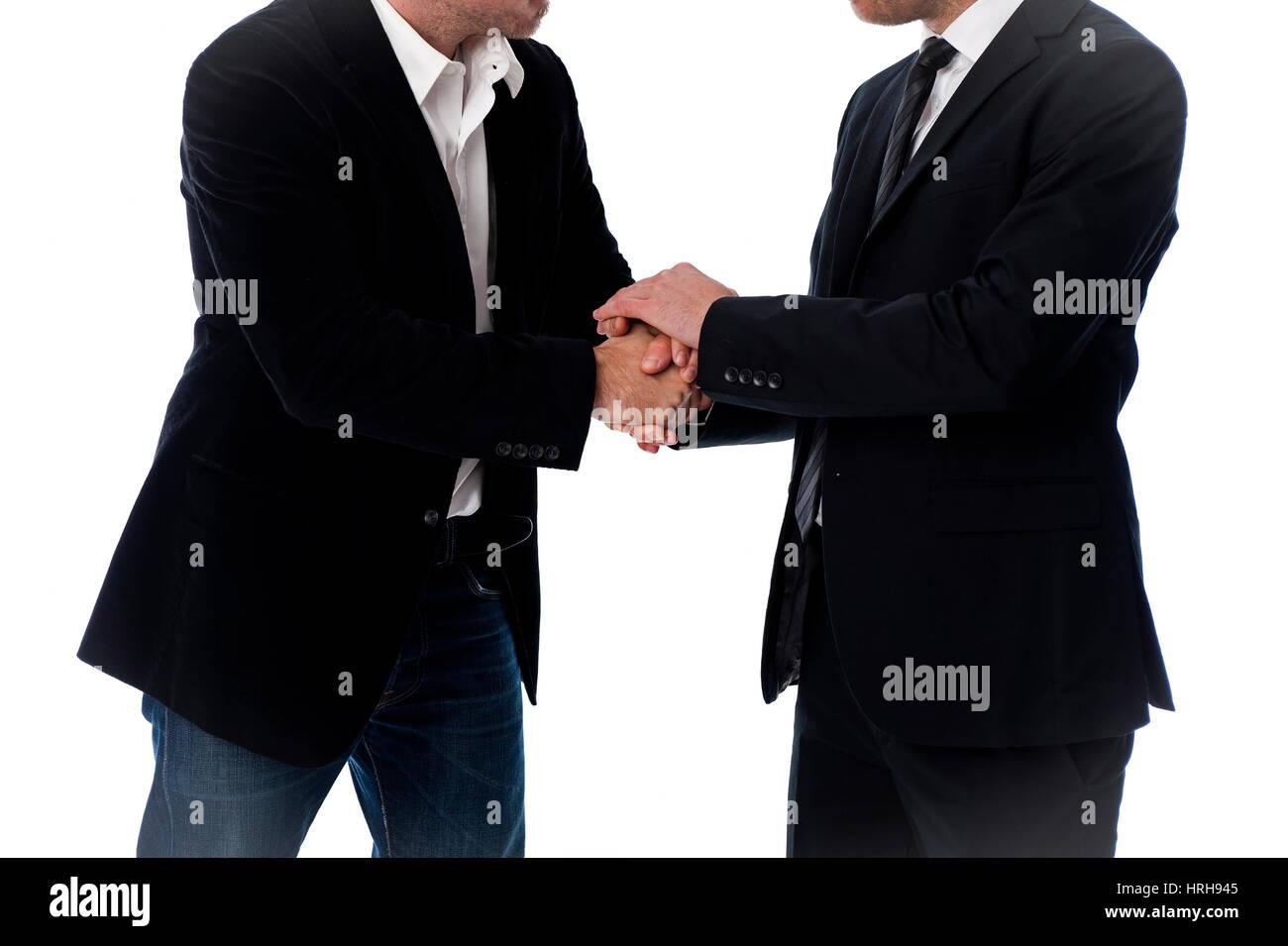 Model released, Handschlag unter Geschaeftsmaenner - handshake in business - Stock Image