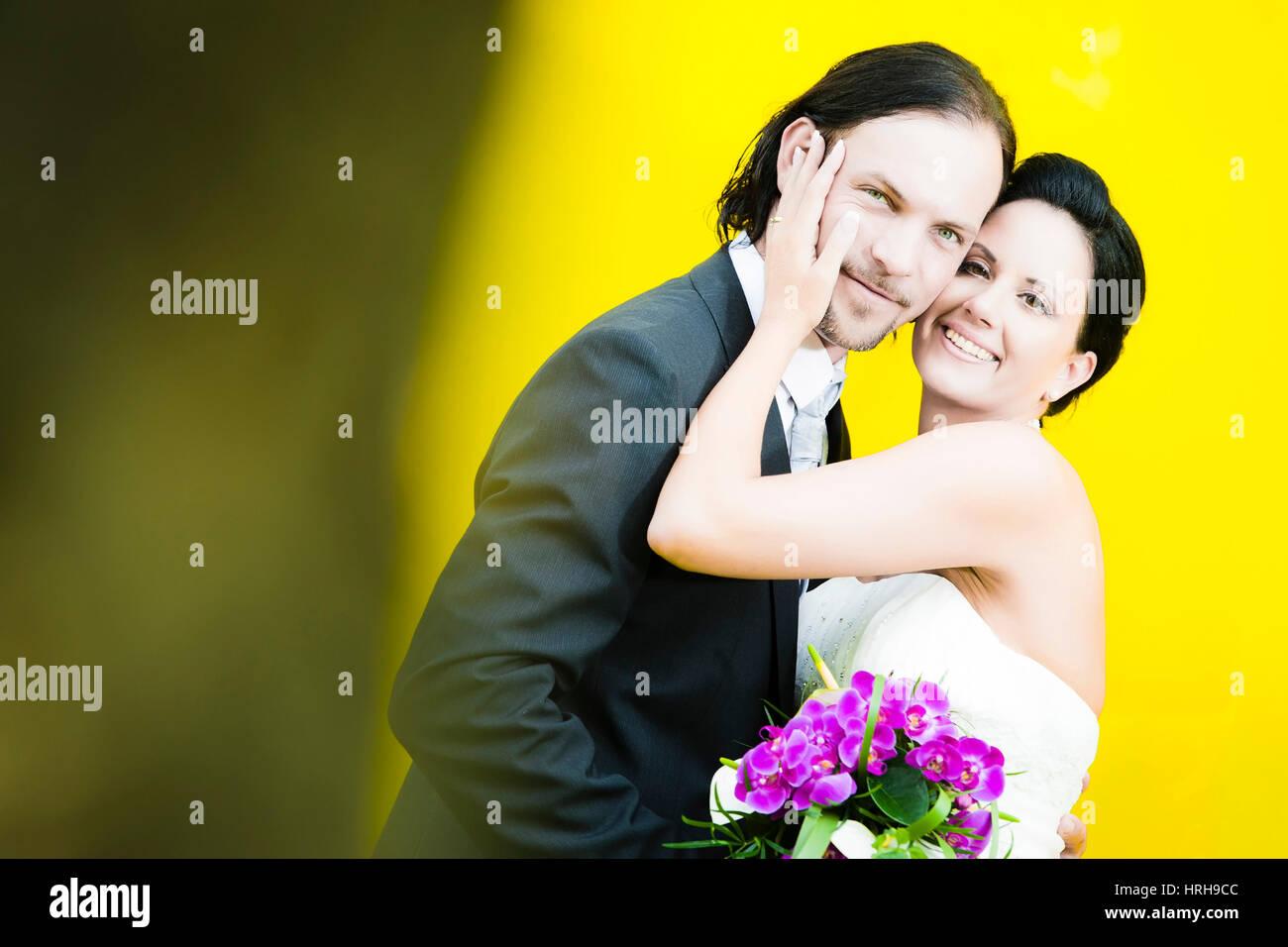 Model released, Brautpaar - bridal couple Stock Photo