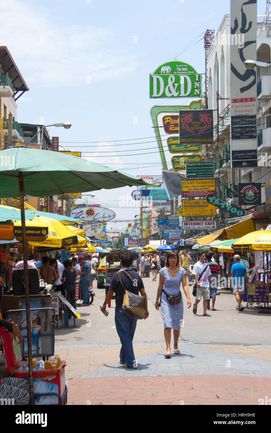 Bangkok, Khaosan Road, Thailand - Bangkok, Khaosan Road, Thailand - - Stock Image