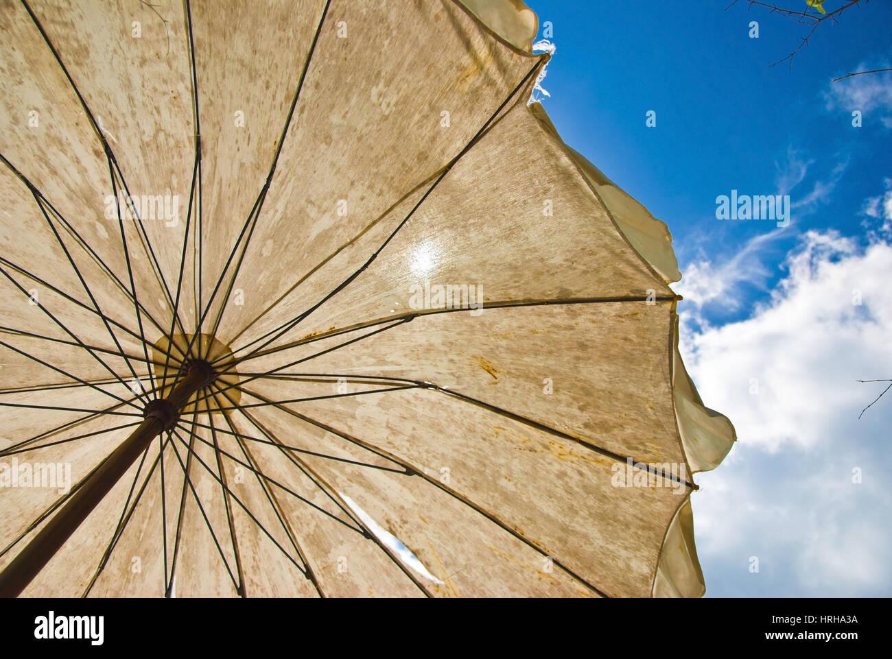 Sonnenschirm - sunshade Stock Photo