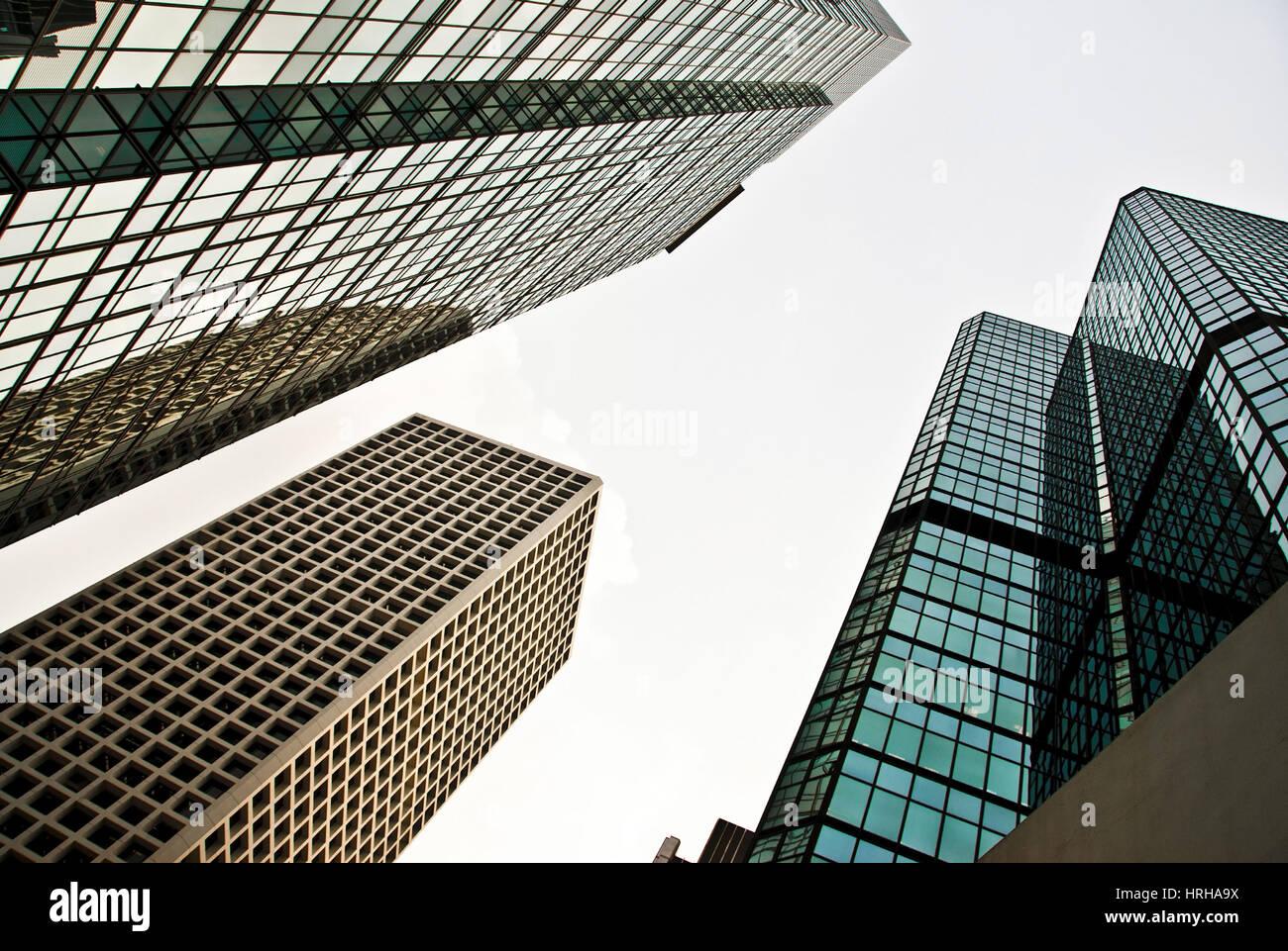 Wolkenkratzer, Hongkong, China - high rise buidling, Hongkong China - Stock Image