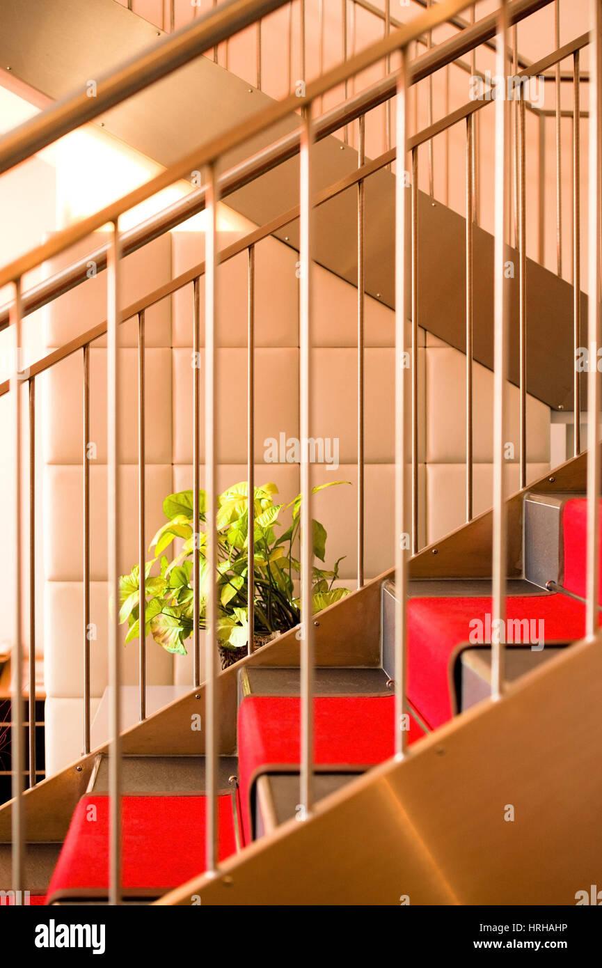 Stiegenaufgang staircase stock image