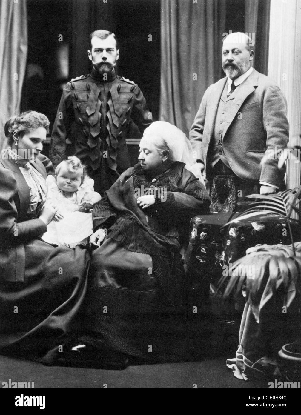 Queen Victoria and Tsar Nicholas II - Stock Image