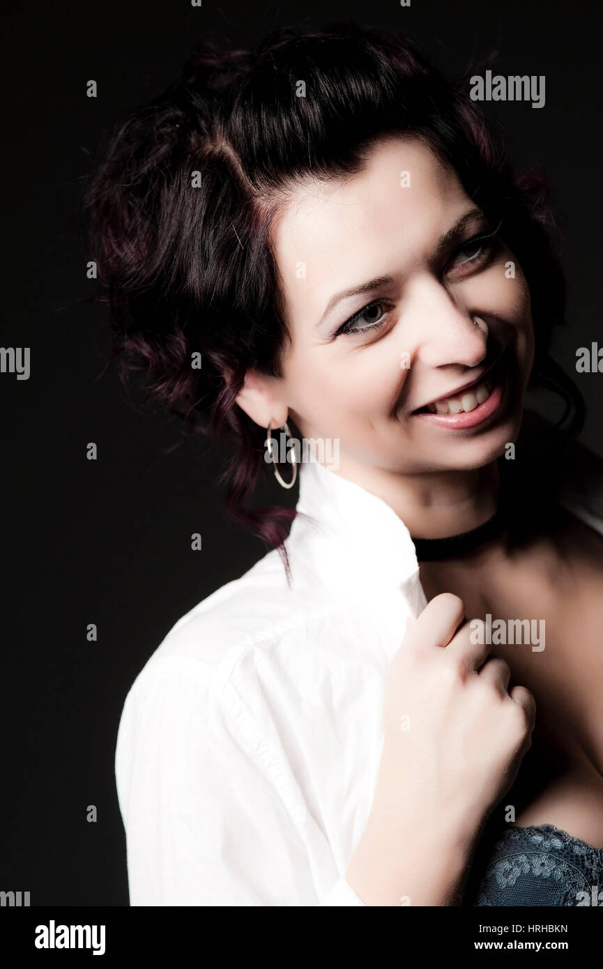Model released, Junge, attraktive Frau, 30 - young, attractive woman Stock Photo