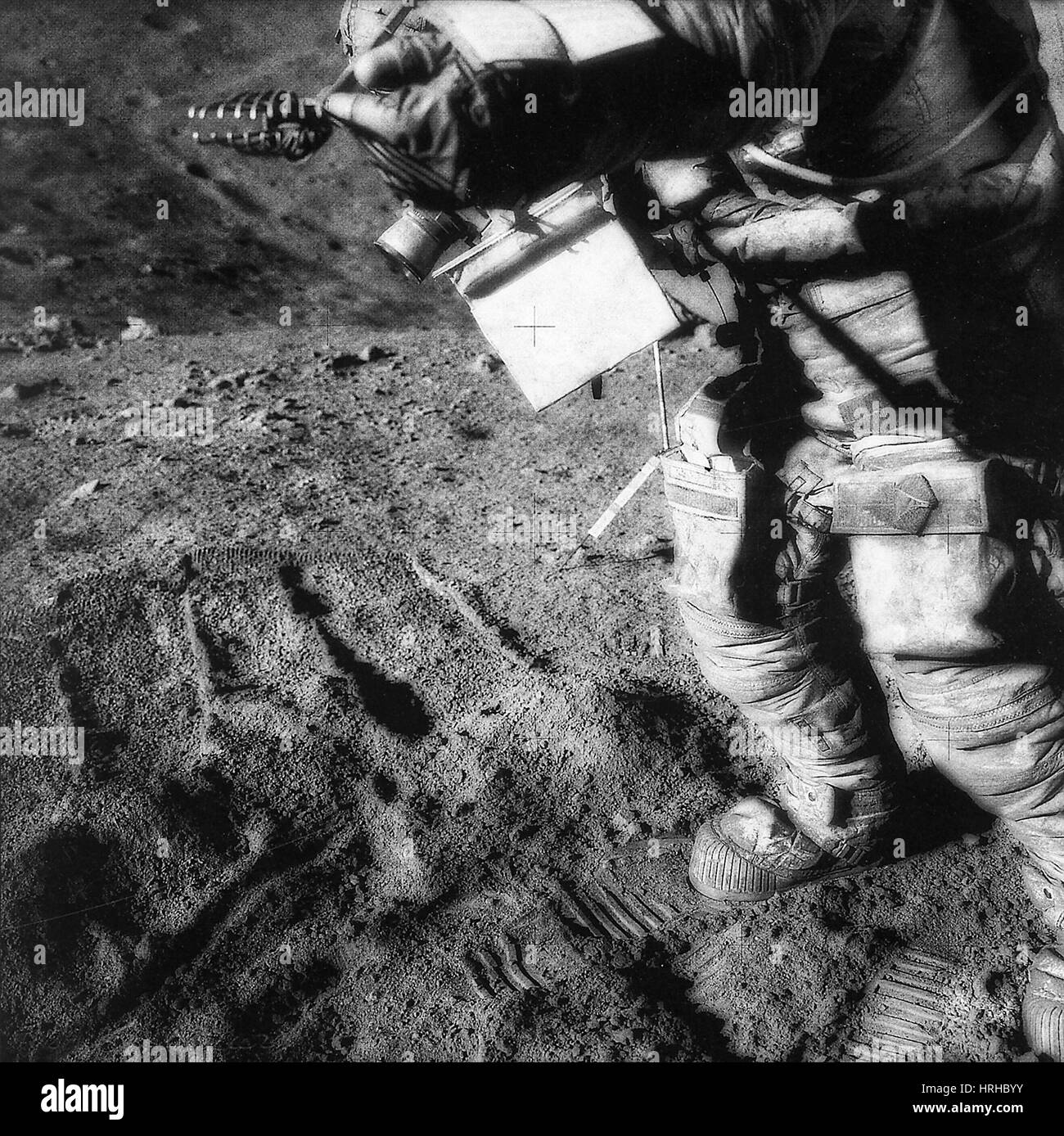 David Scott, Moon - Stock Image