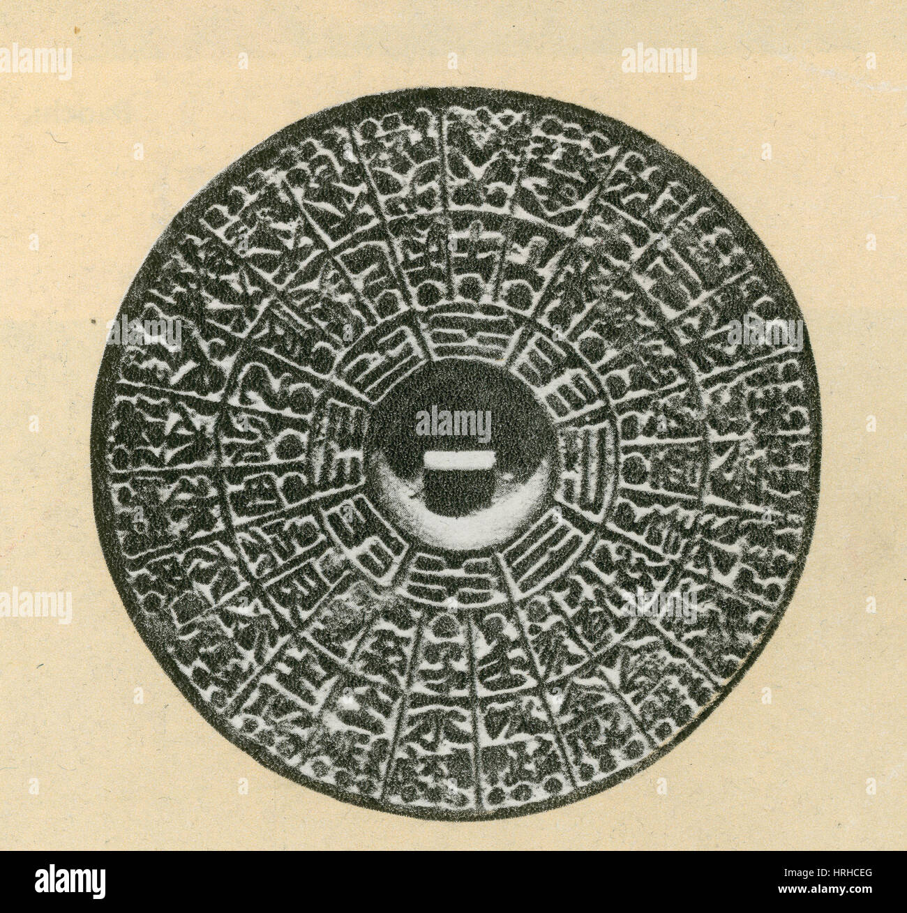 Bronze Compass, Ming Dynasty - Stock Image