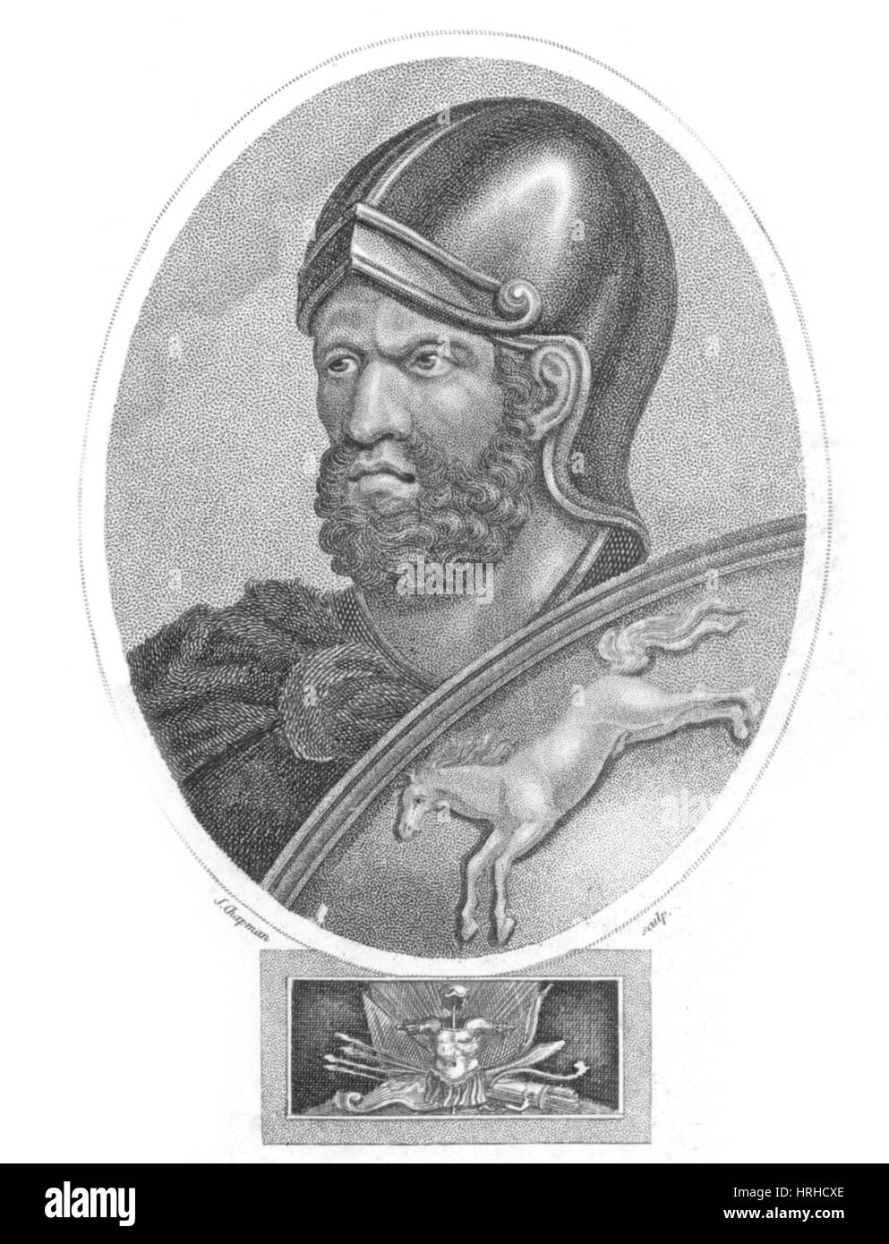 Hannibal, Carthaginian Military Commander - Stock Image