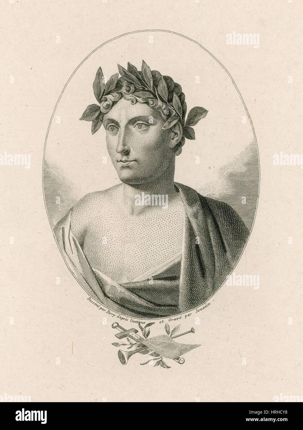 Horace, Roman Poet - Stock Image
