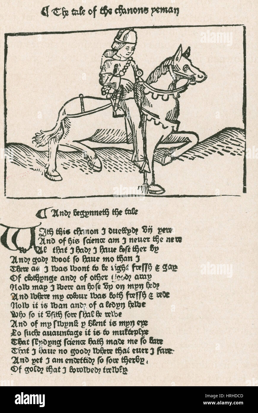 Geoffrey Chaucer's, Canterbury tales - Stock Image