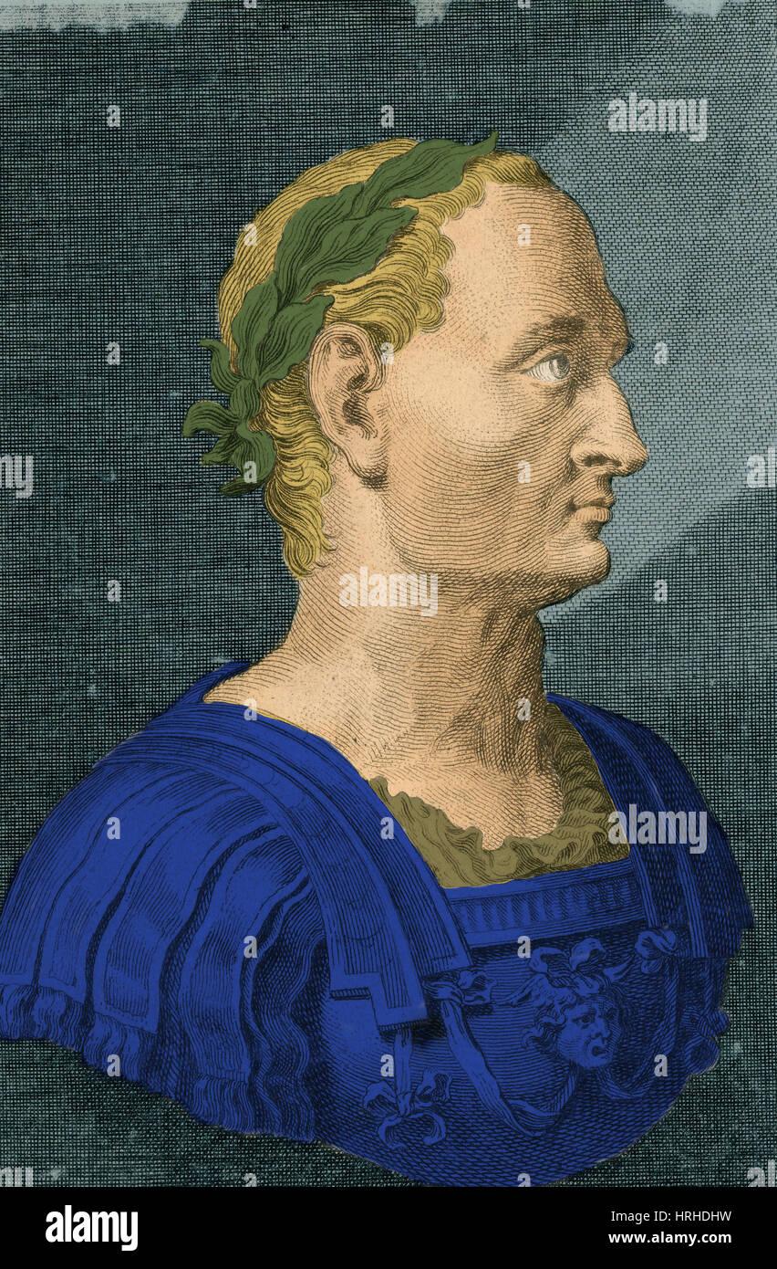 Julius Caesar, Roman General and Statesman - Stock Image