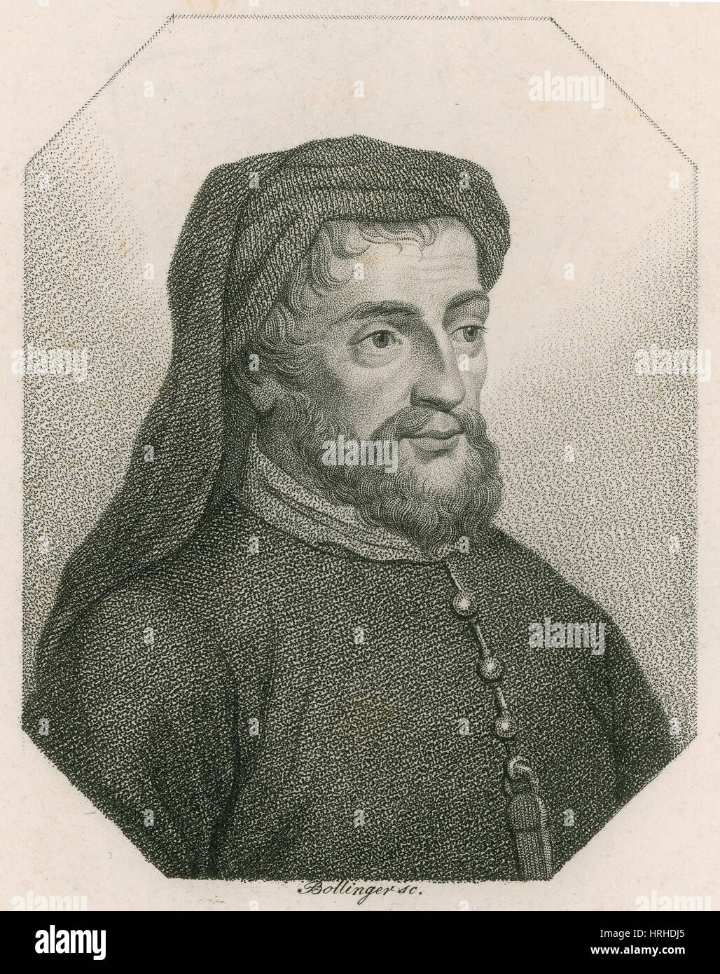 Geoffrey Chaucer, Father of English Literature Stock Photo