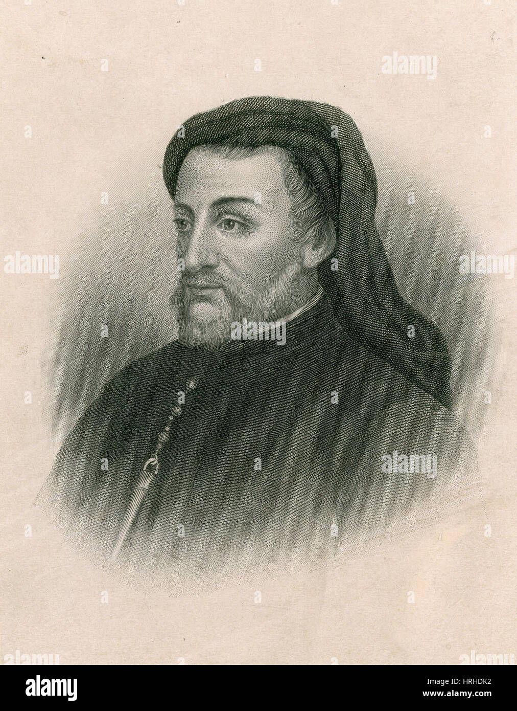Geoffrey Chaucer, Father of English Literature - Stock Image