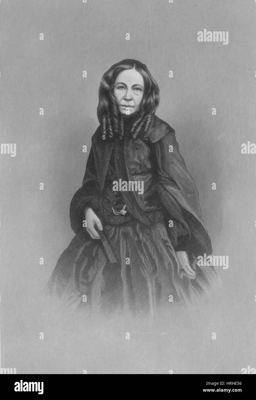 Elizabeth Barrett Browning, English Poet - Stock Image