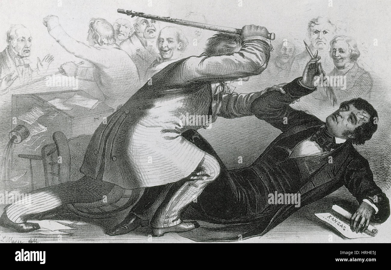 Charles Sumner Attacked by Andrew Butler - Stock Image