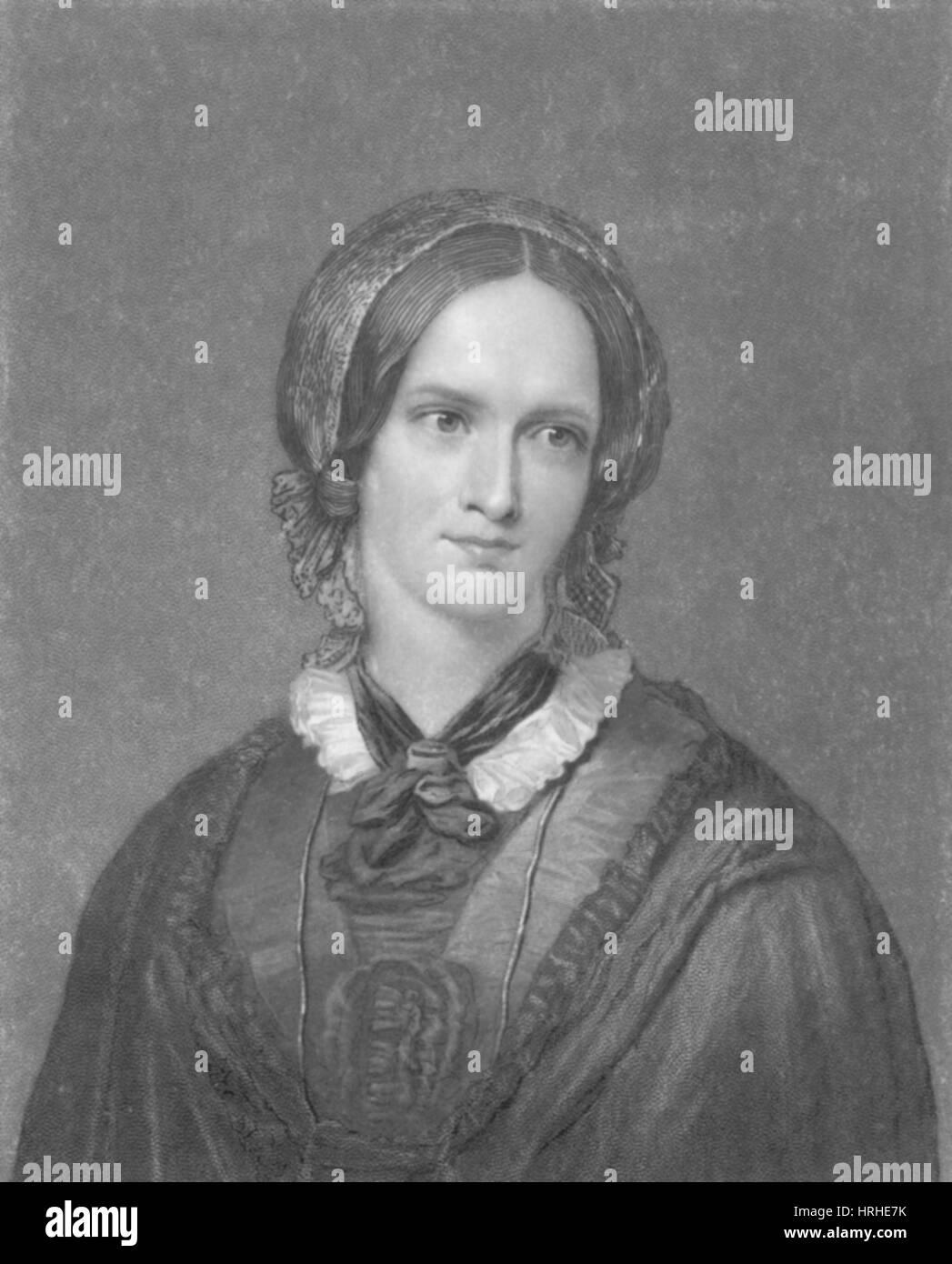 Charlotte Bronte, English Author - Stock Image