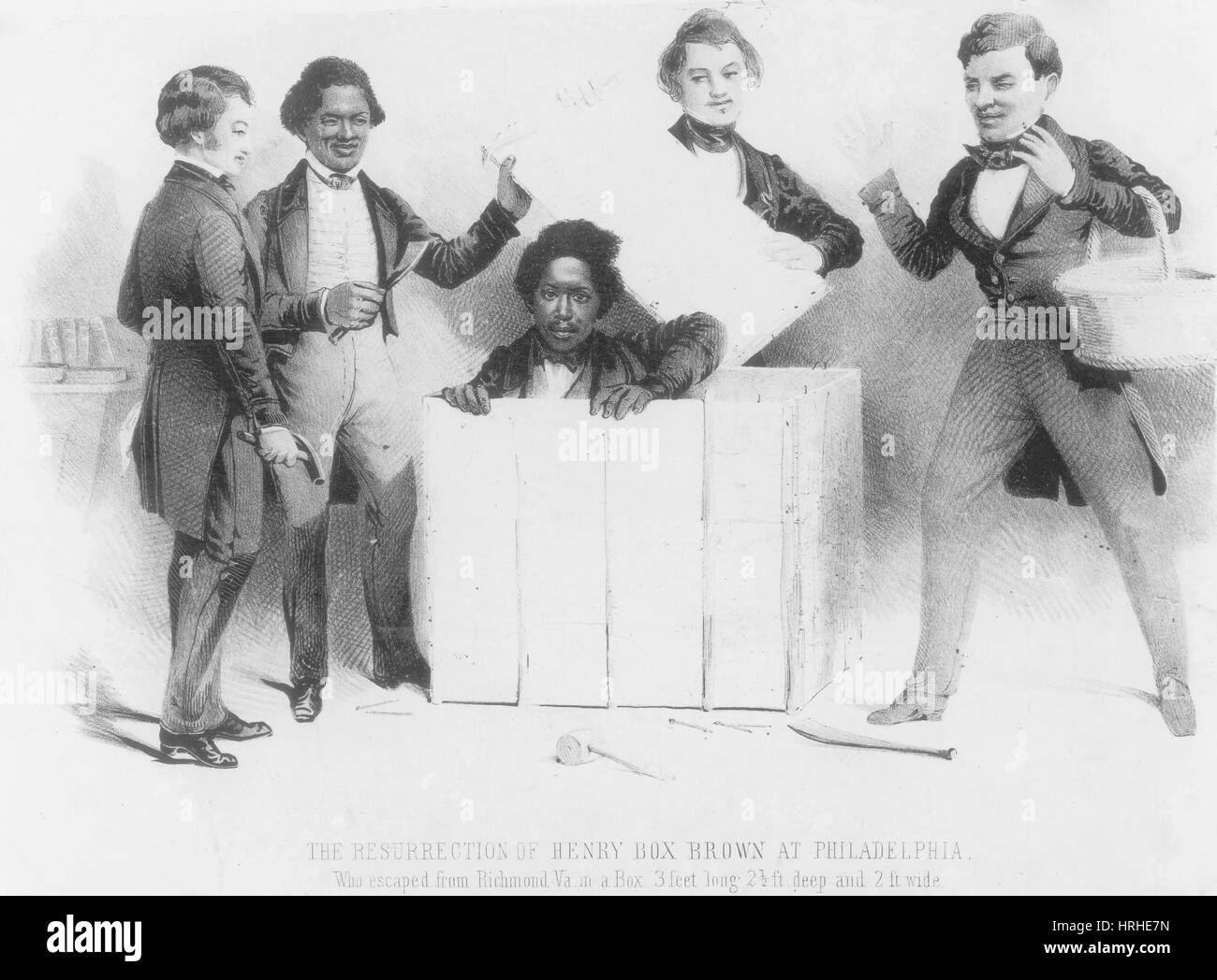 Resurrection of Henry Box Brown - Stock Image