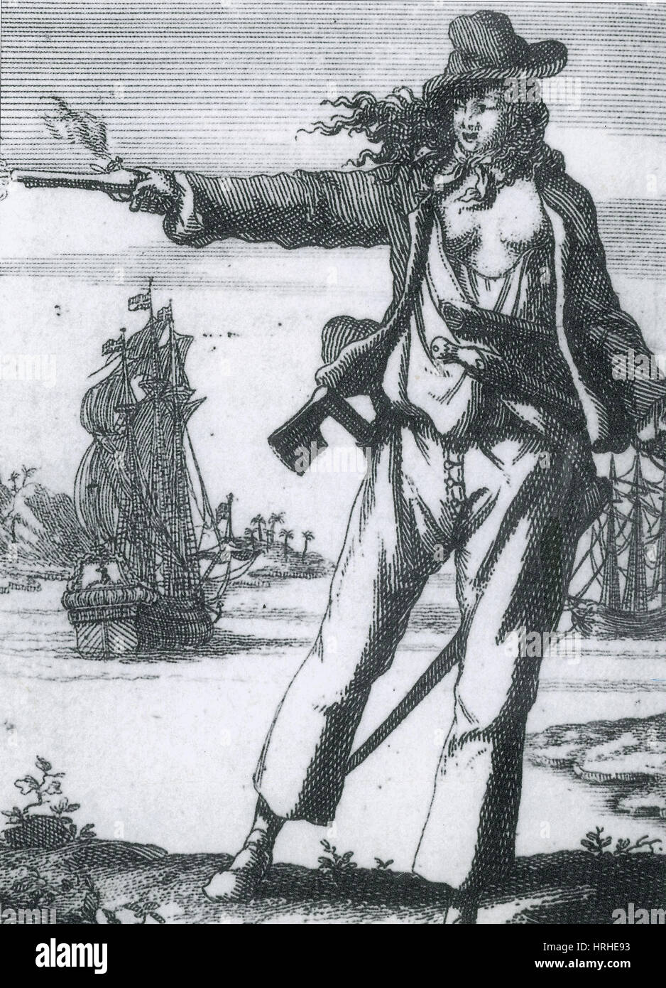 Anne Bonny, 18th Century Pirate - Stock Image
