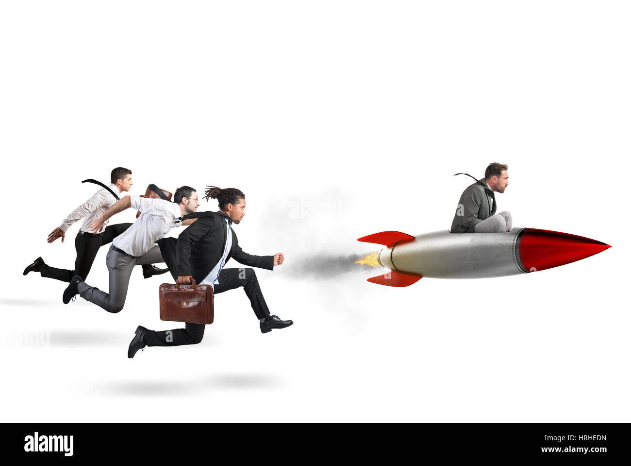Overcome and achieve success 3D Rendering - Stock Image