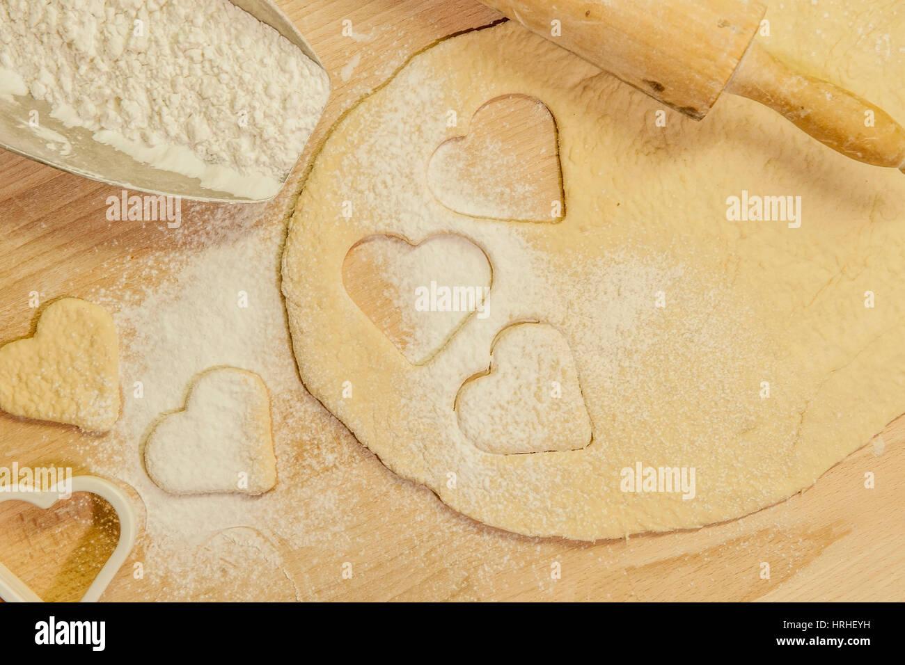 Kekse backen - baking cookies Stock Photo