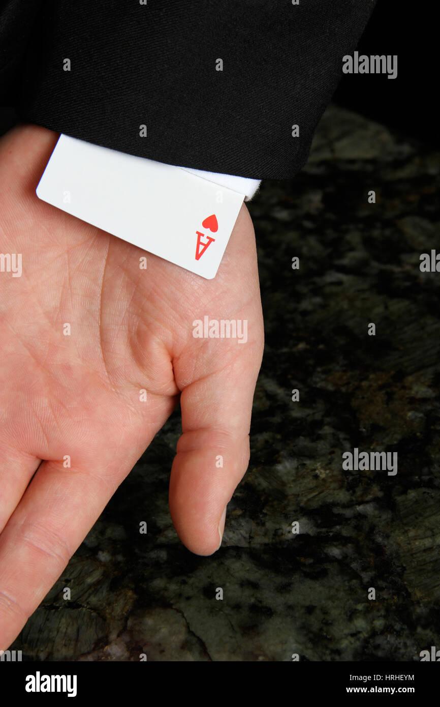 Ace Under Sleeve - Stock Image