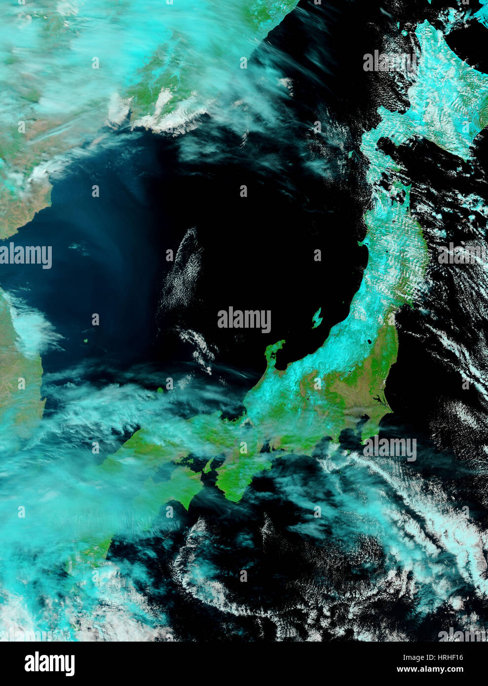 Northeastern Japan After Tsunami - Stock Image