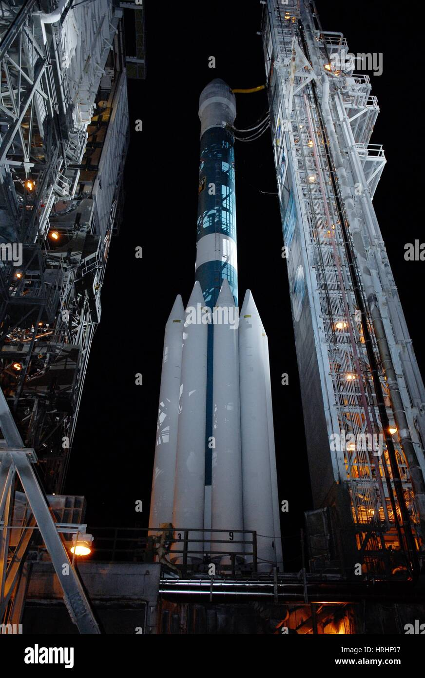 Tower Rollback for Dawn Spacecraft, 2007 - Stock Image