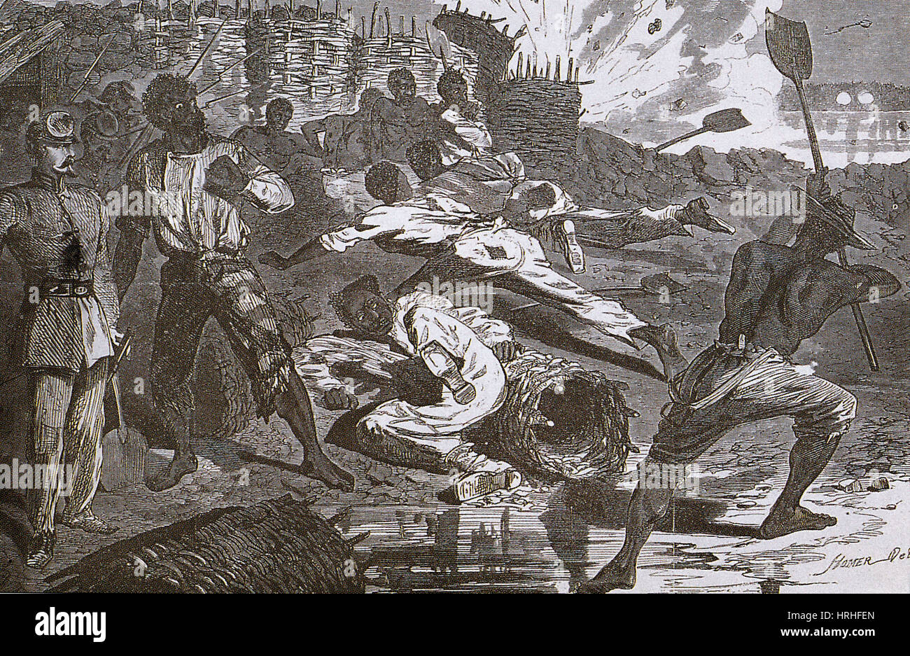 Siege of Vicksburg, 1863 - Stock Image