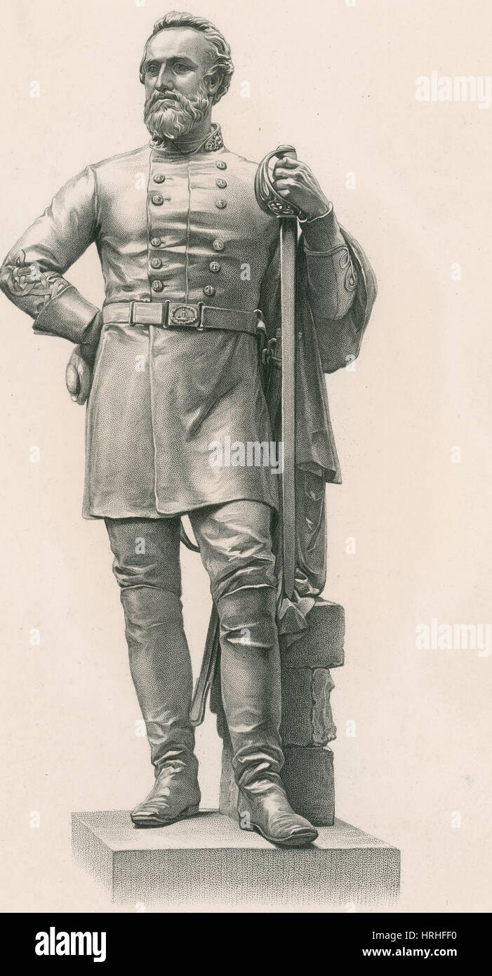 Stonewall Jackson, Confederate General - Stock Image