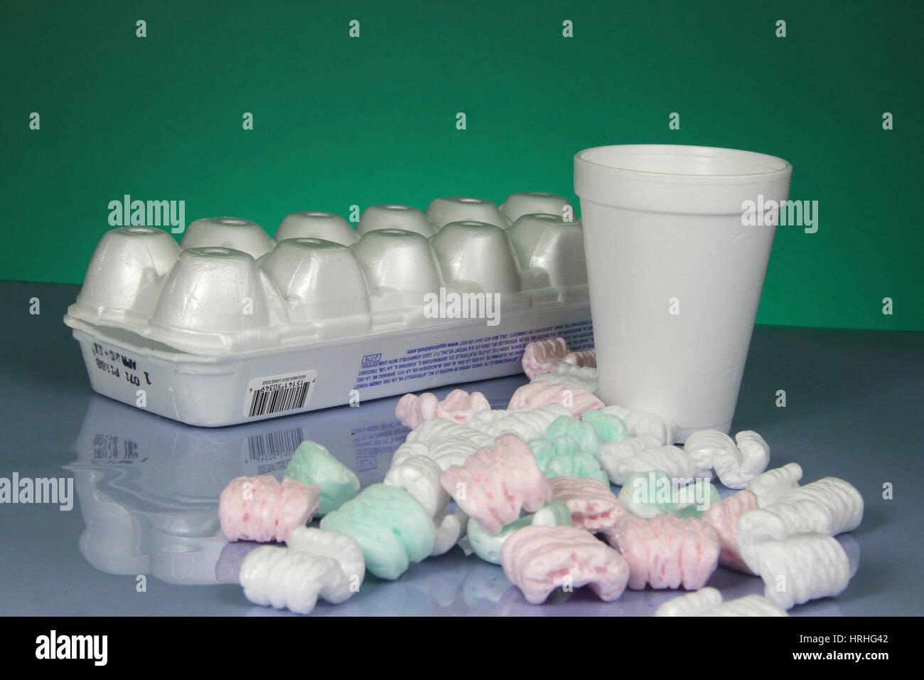 Polystyrene Objects - Stock Image