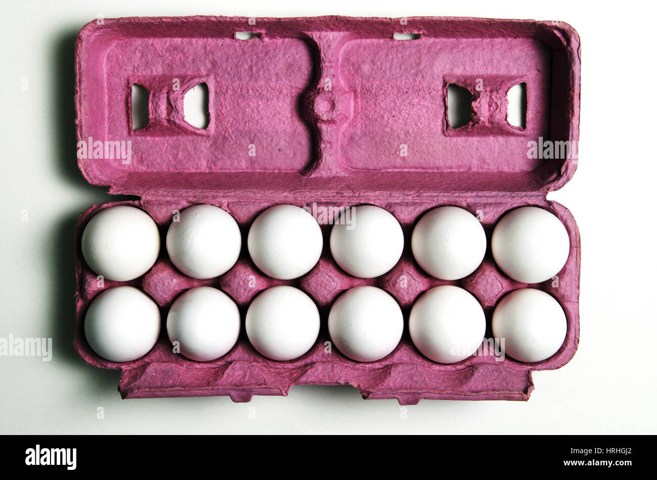 12 Eggs - Stock Image