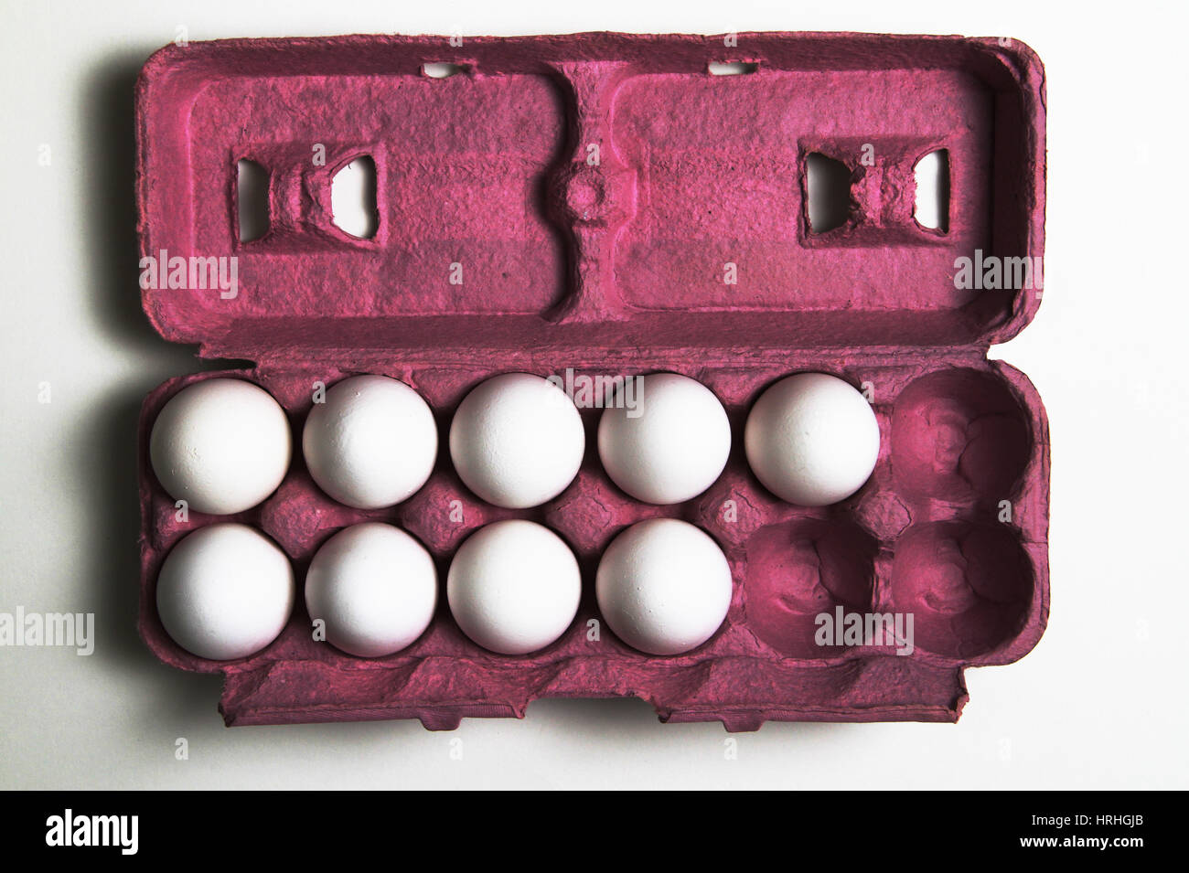 3 More Eggs Equals a Dozen Stock Photo