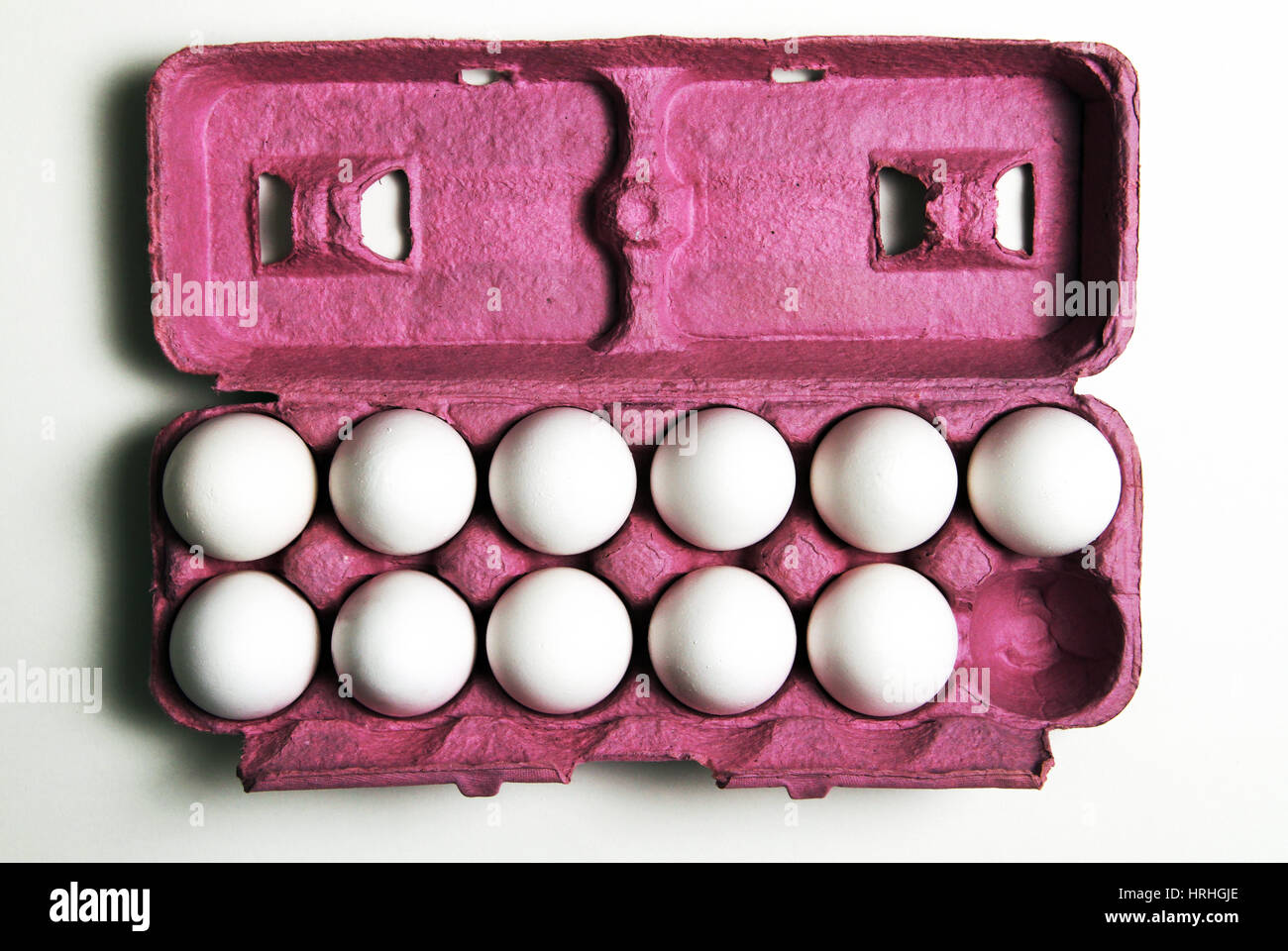 11 Eggs - Stock Image