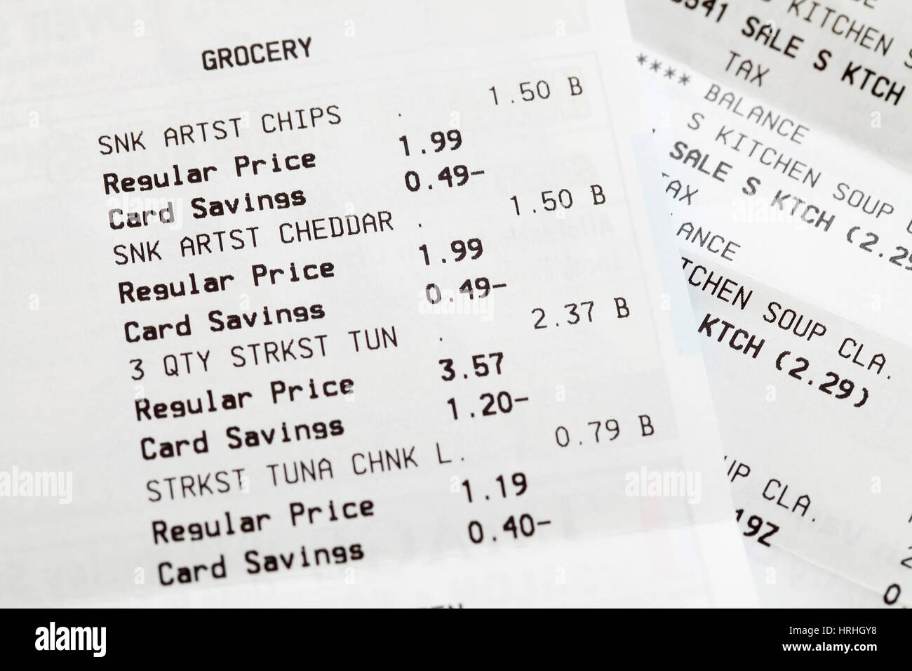 grocery receipts stock photos grocery receipts stock images alamy