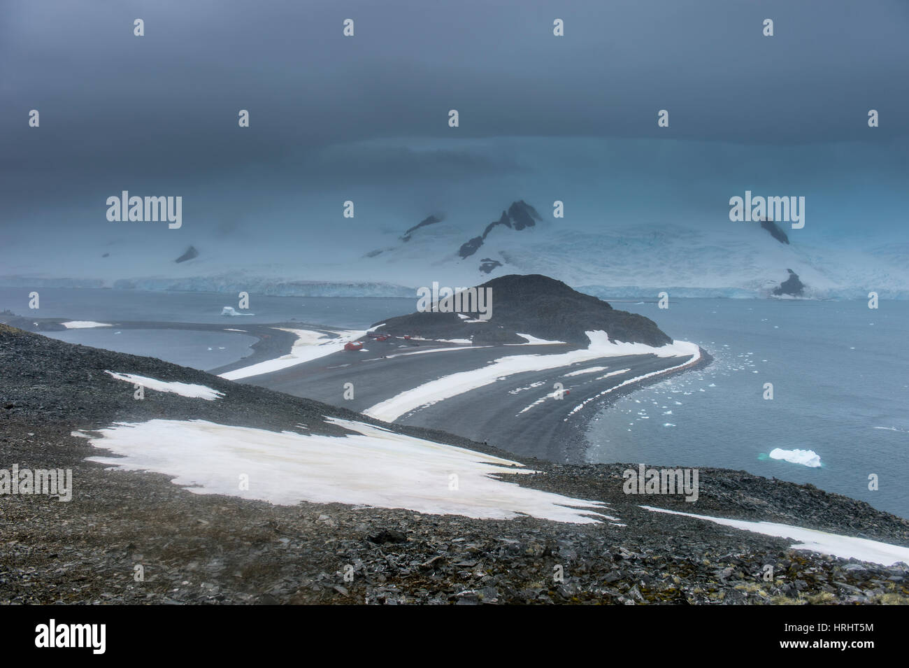 View over Half Moon Island, South Shetland Islands, Antarctica, Polar Regions - Stock Image