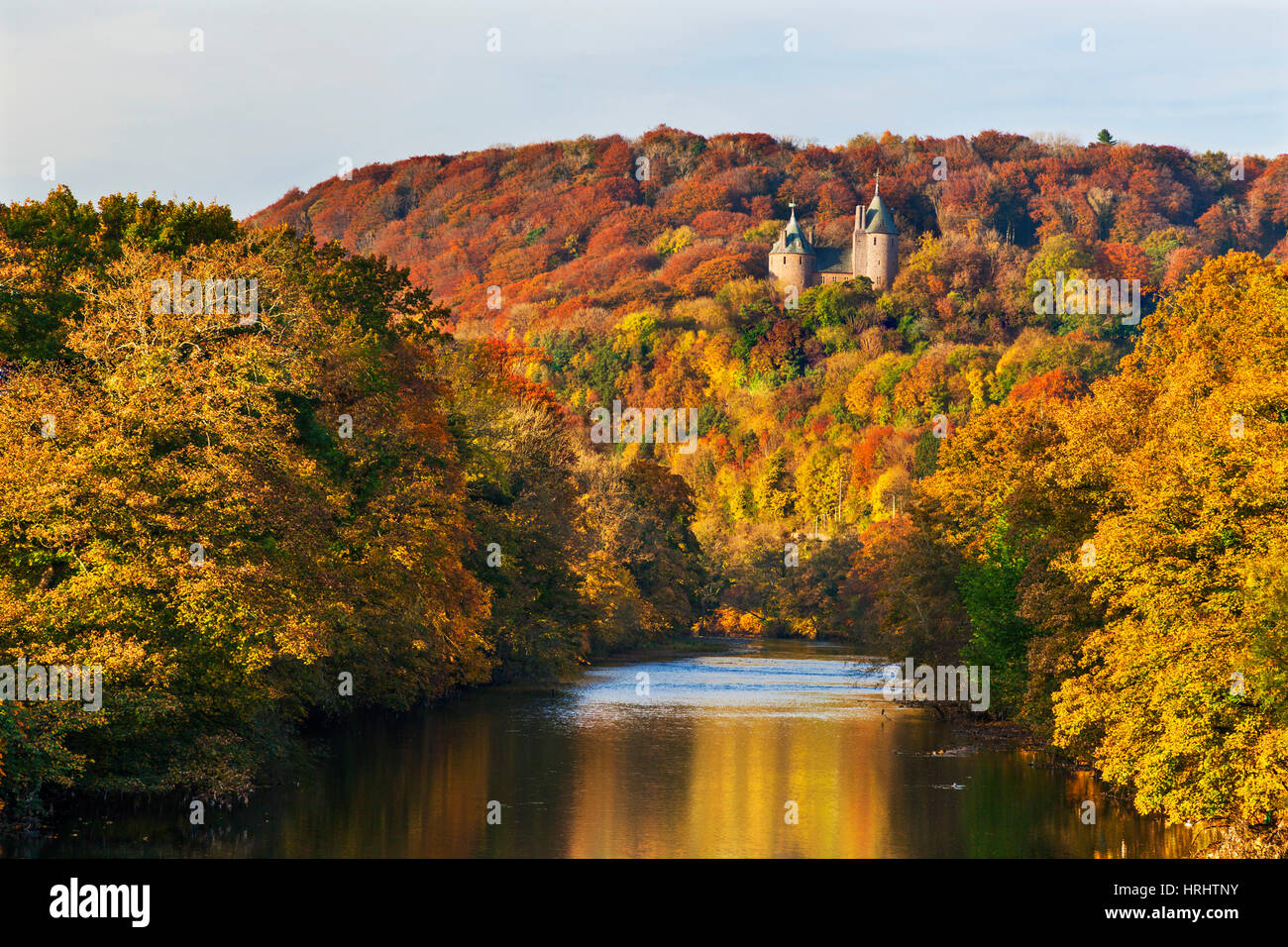 Castle Coch (Castell Coch) (The Red Castle) in autumn, Tongwynlais, Cardiff, Wales, United Kingdom - Stock Image