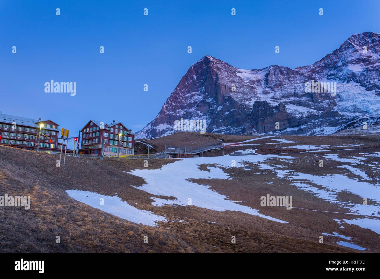 Kleine Scheidegg, Jungfrau region, Bernese Oberland, Swiss Alps, Switzerland - Stock Image