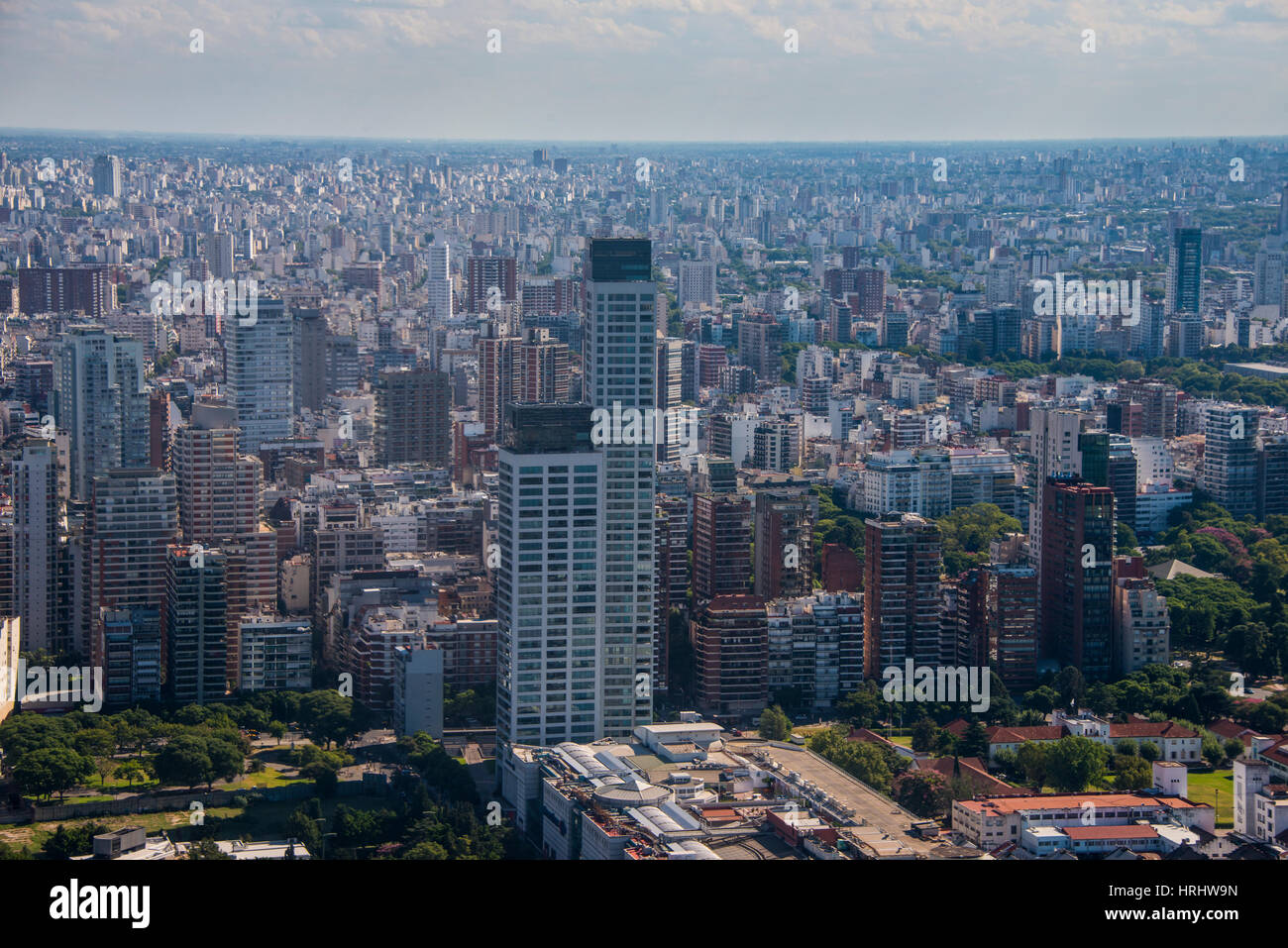 Aerial of Buenos Aires, Argentina Stock Photo