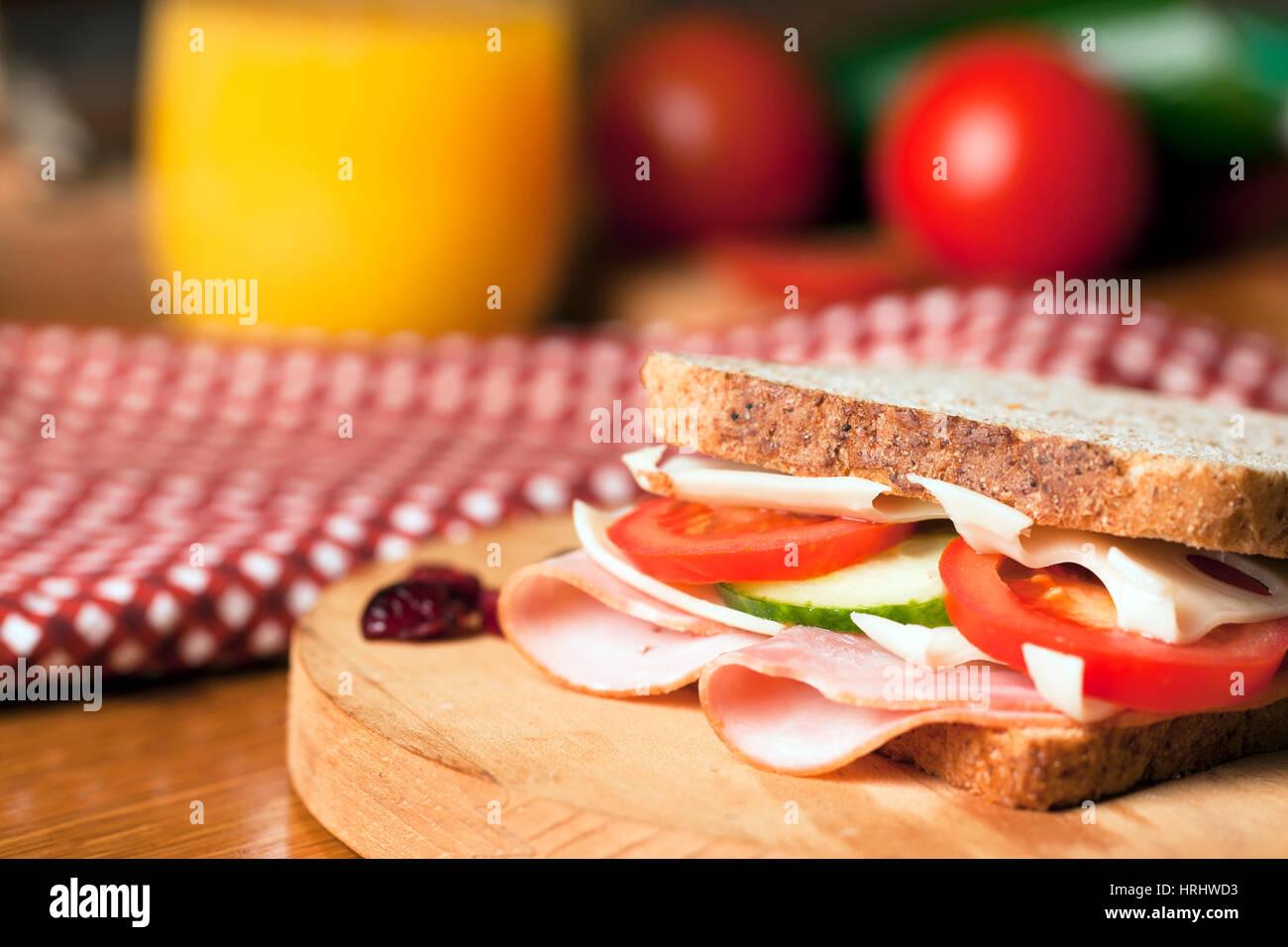 Healthy sandwich - Stock Image