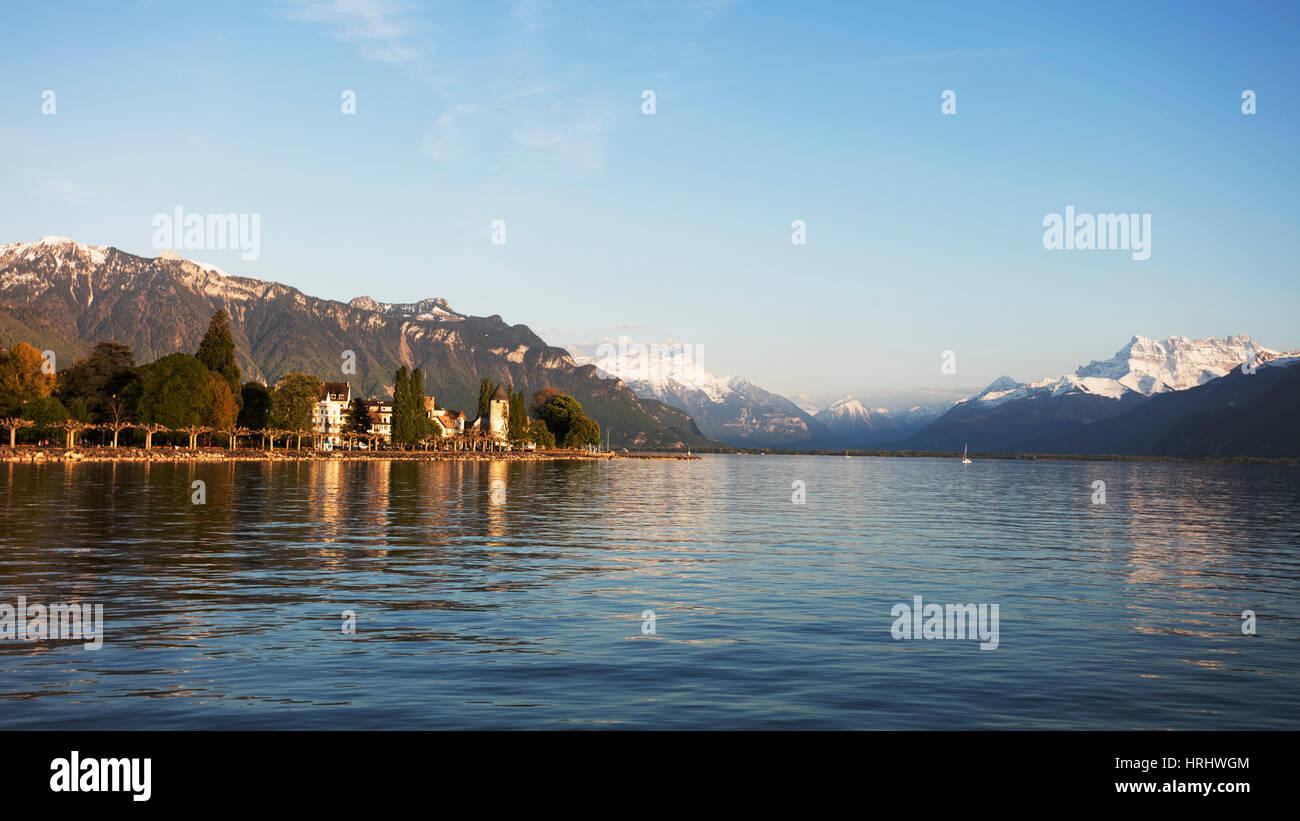 Musee Suisse du Jeu (The Swiss Museum of Games), Lake Geneva (Lac Leman), Vevey, Vaud, Switzerland - Stock Image