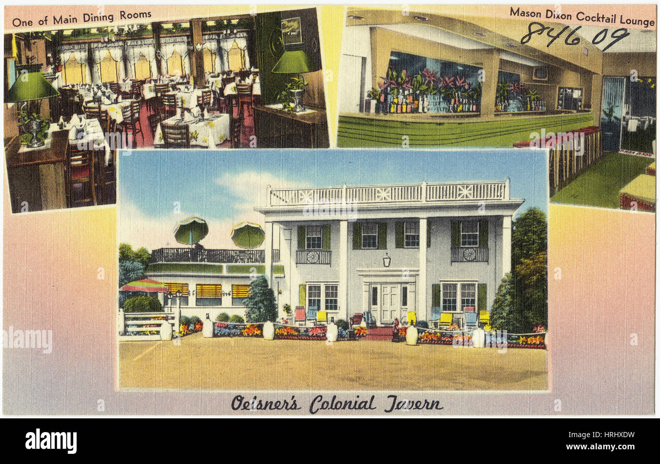 Kentucky -  Oelsner's Colonial Tavern, Greater Cincinnati's finest, Route 25 &42 in the Blue Grass State, - Stock Image